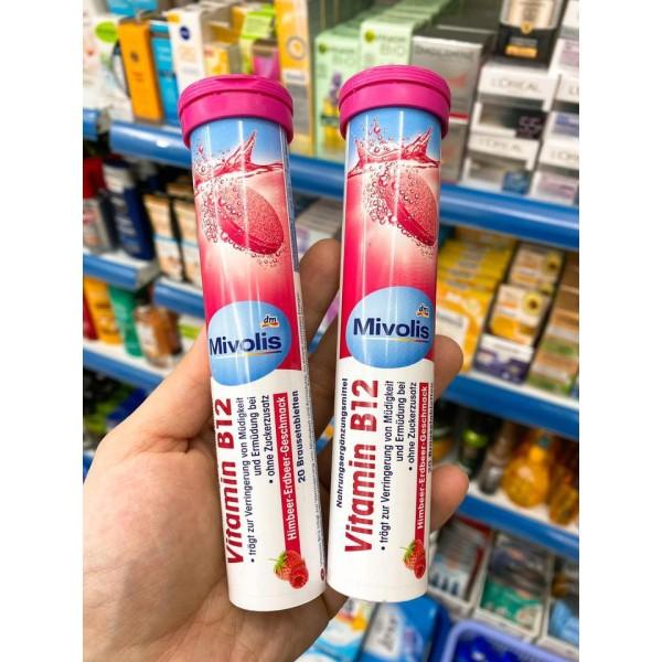 Viên Sủi Mivolis Bổ Sung Vitamin B12- Nội địa Đức Tuýp 20 Viên