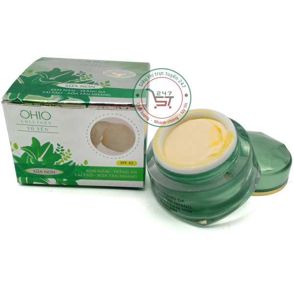 Kem nám Ohio Trắng da Tái tạo Xóa tàn nhang Collagen - Sữa non - Tổ Yến 18g (Xanh)|Siêu thị trực tuyến 247