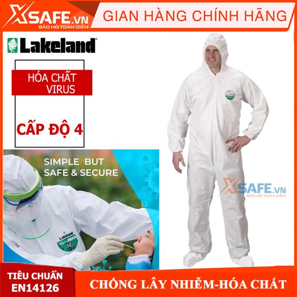 Quần áo bảo hộ phòng dịch cấp độ 4 Lakeland Micromax EMN428 theo tiêu chuẩn phòng chống Covid19 của Bộ y tế/hàng chính hãng [XSAFE][XTOOLs]