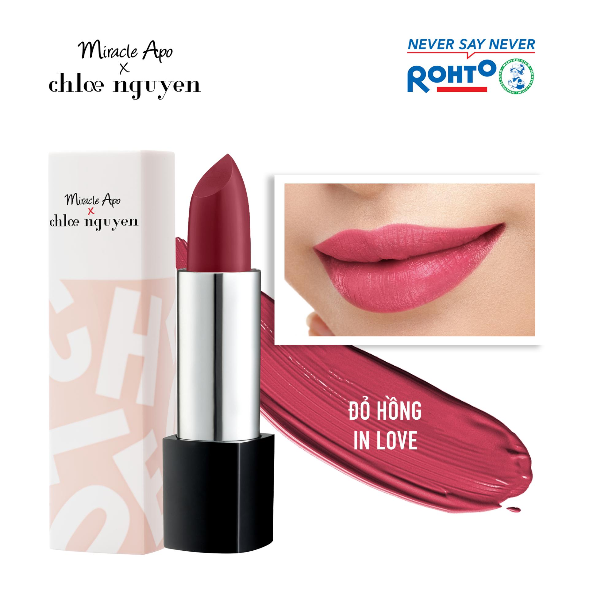Son thỏi Miracle Apo x Chloe Nguyễn Holiday Collection Lipstick 4g