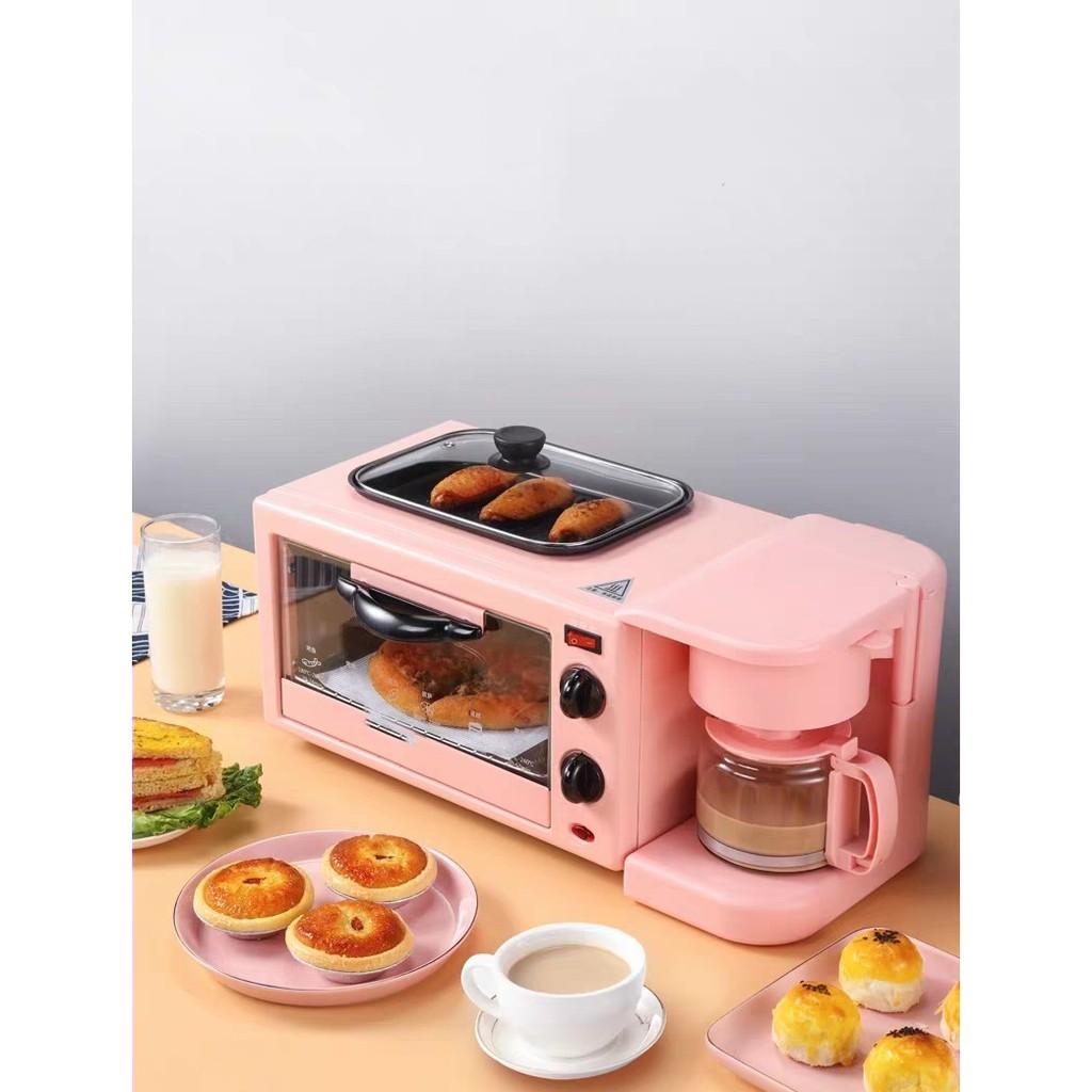 🌟 Tặng Nắp Đậy Thủy Tinh Cao Cấp🌟 Lò Nướng Bánh - Rán- Pha Cafe Đa Năng 3 In 1 Chính Hãng