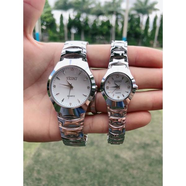 Đồng hồ thời trang nam nữ Yishi màu bạc MS223