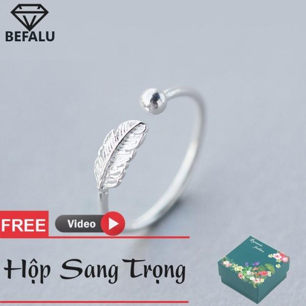 Nhẫn Nữ Bạc 925 Chiếc Lá Phong Cách Hàn Quốc N17 Freesize- BEFALU