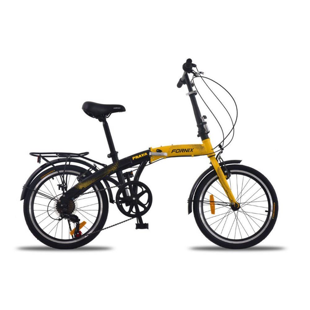 Mua Xe đạp gấp Prava màu vàng đen màu thời gian