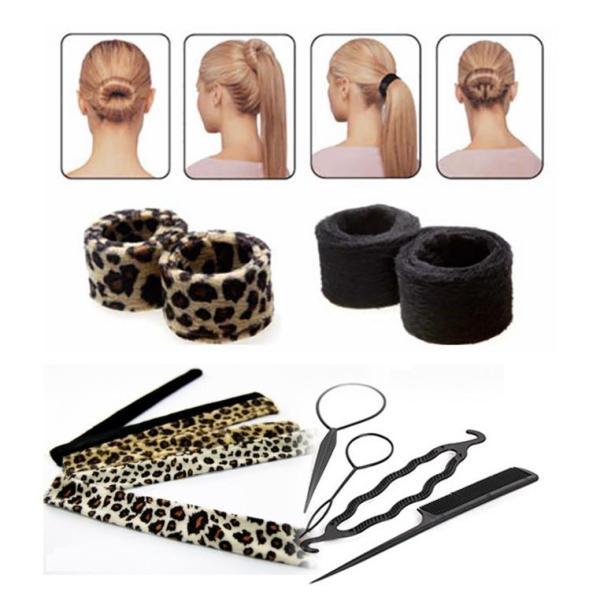 Combo 02 dụng cụ búi tóc Hairagami (tặng 4 dụng cụ làm tóc nghệ thuật độc đáo) giá rẻ