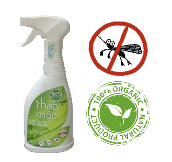 Thảo mộc Plus -  Diệt muỗi kiến gián Organic 500ml