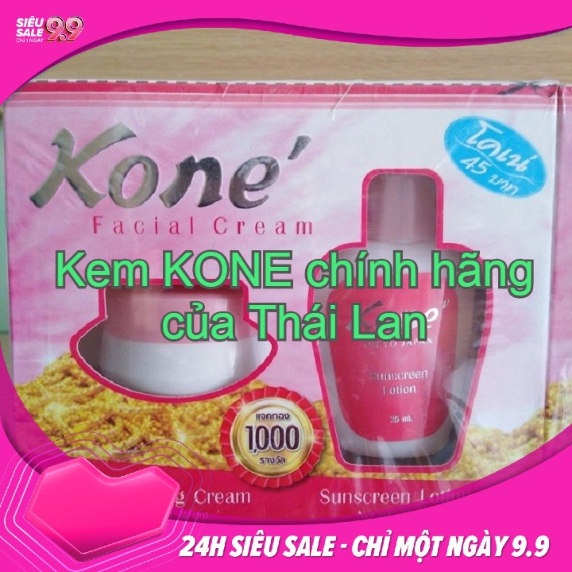 Bộ kem Kone giảm nám, tàn nhan, mụn của Thái tốt nhất