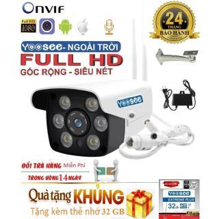 [TẶNG THẺ CHUẨN CTY 32 GBCÓ MẦU BAN ĐÊM] Camera YOOSEE zq26 ngoài trời - trong nhà camera yoosee 2.4 Mpx Full HD 1920 X 1080p - hỗ trợ 2 đèn hồng ngoại và 4 đèn LEDghi âm đàm thoại 2 chiều thumbnail
