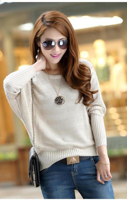 Áo len phong cách Hàn kiểu cánh dơi