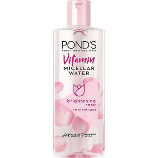 Nước tẩy trang Ponds sáng da 235ml, giúp làm sạch bụi bẩn, loại bỏ các lớp trang điểm, và đồng thời làm da sáng hơn chỉ trong một bước làm sạch da