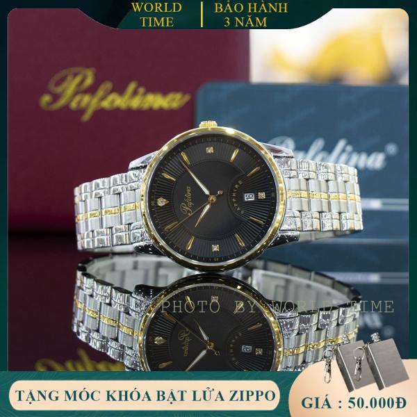 Đồng hồ nam Pafolina 5028M full box, kính sapphire chống xước, chống nước, thẻ bảo hành 3 năm toàn quốc