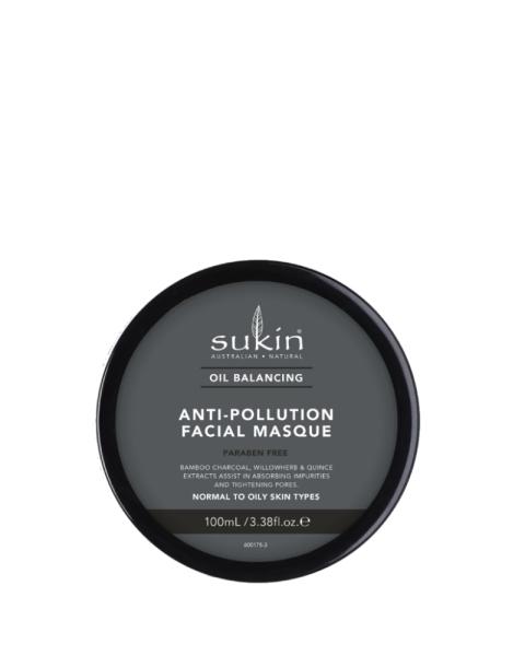 Mặt Nạ Cân Bằng Dầu Than tre hoạt tính Sukin Oil Balancing Plus Charcoal Anti-Pollution Facial Masque 100ml