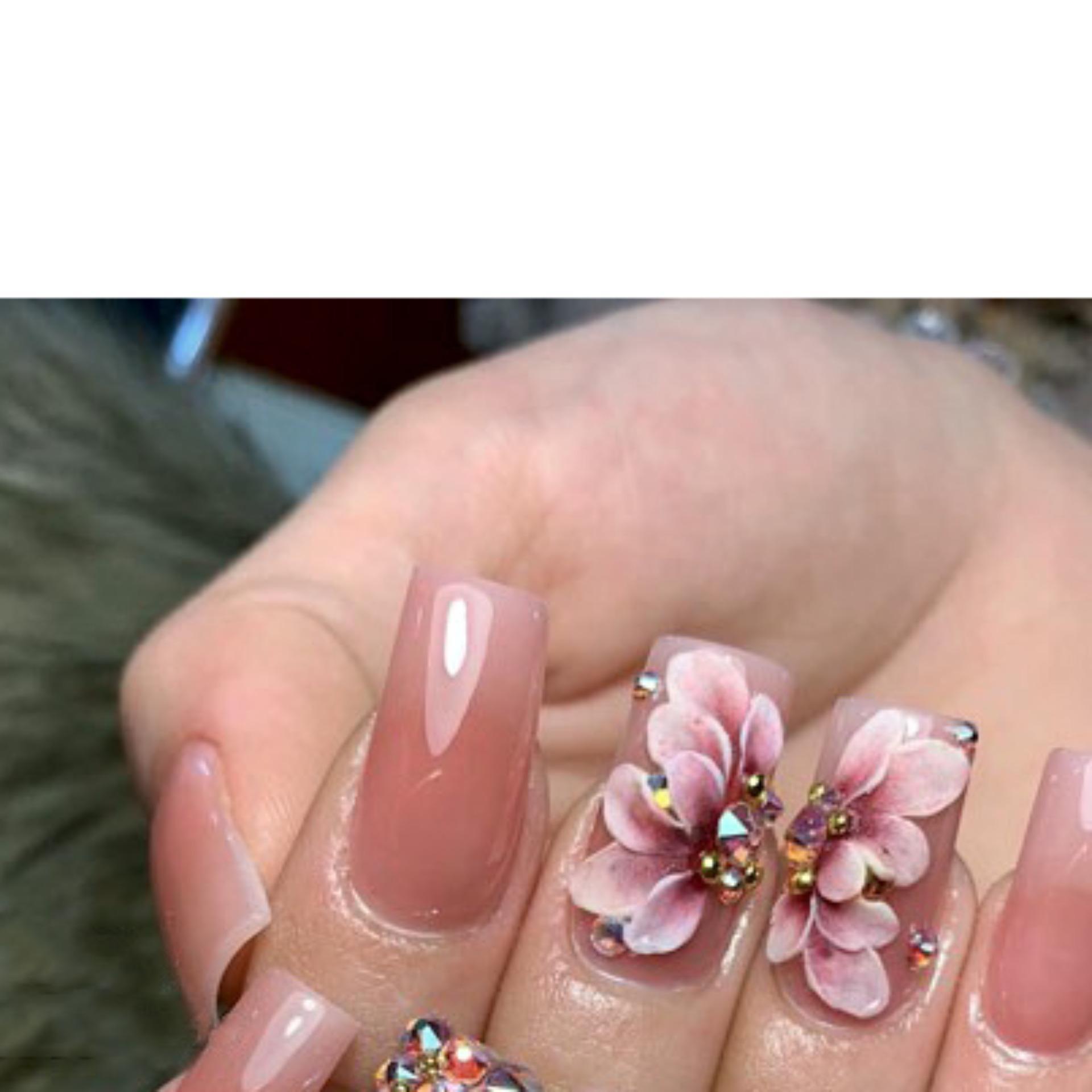 Sản phẩm trang trí móng , vẽ nổi, Nail desige , hoa vẽ nổi. Hoa nổi 4D ,Fantasy ,set 2 hoa theo màu.Hoa dễ bẻ from móng(hàng vẽ tay không đổ khuôn )Mã HN008 tốt nhất