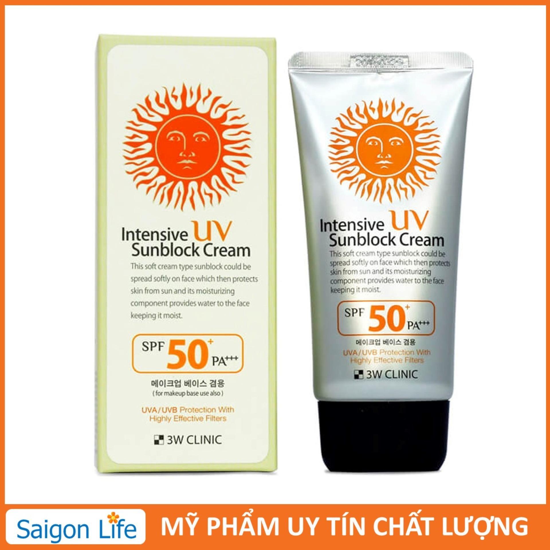 [Siêu Hot] Kem chống nắng 3W Clinic UV Sunblock Cream SPF 50+ PA+++ 70 ml nhập khẩu