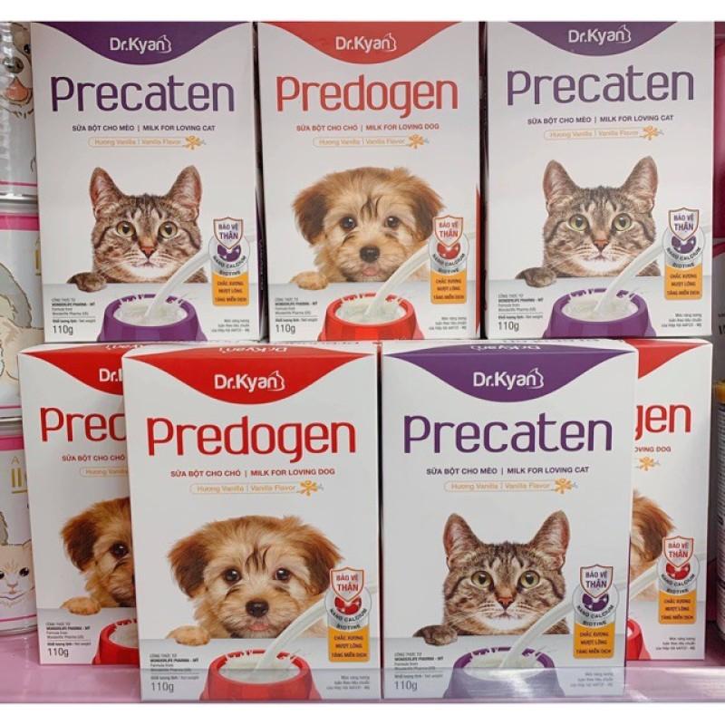 Sữa bột cho chó mèo Predogen Dr.Kyan hộp 110g sữa cho mèo, đảm bảo dưỡng chất phát triển và cực kì an toàn, dinh dưỡng tốt cho sức khỏe của thú cưng