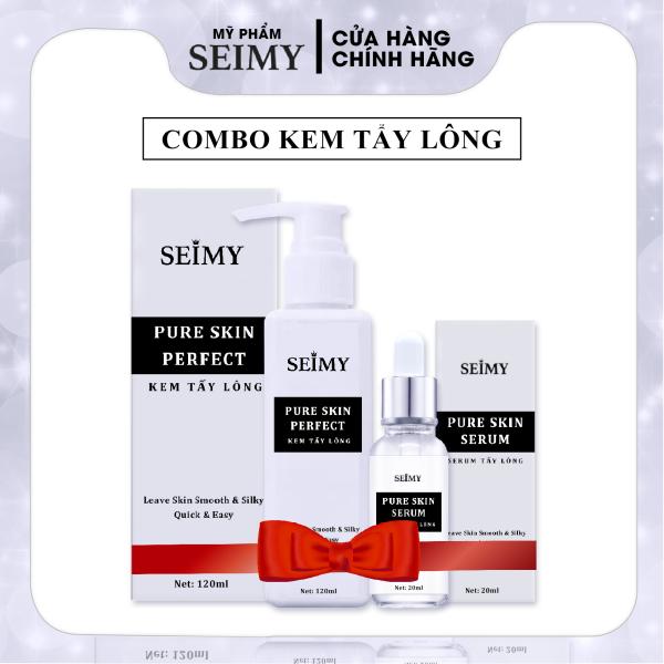 Combo Kem Tẩy Lông Seimy - Pure Skin Perfect triệt sạch bất chấp mọi loại lông vĩnh viễn nhanh gọn chỉ 5 phút