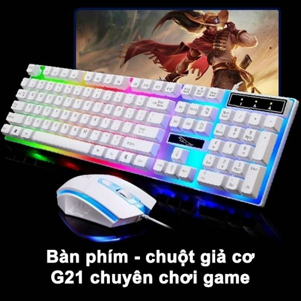 Bảng giá Bàn Phím Chuột Giả Cơ G21  - Chuyên game - Có đèn LED 7 màu - Cho máy tính, laptop Phong Vũ