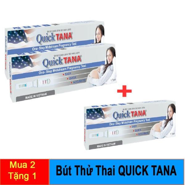 [MUA 2 TẶNG 1] COMBO 2 Bút Thử Thai QUICK TANA giá rẻ - Que thử nhanh,chính xác như que thử thai điện tử