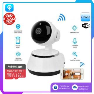 (Tùy Chọn Thẻ Nhớ 128GB), Camera wifi v380 Pro , camera FULL HD đàm thoại , cảnh báo chuyển động, xoay 360 độ, bảo hành 3 năm 1 đổi 1 trong 7 ngày , Camera mini - LA thumbnail