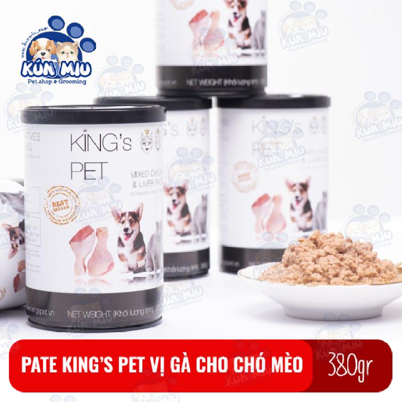 Thức ăn Pate cho chó mèo Kings Pet vị gà hộp 380gr