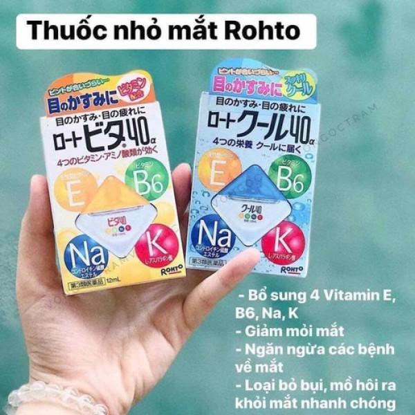 Dung Dịch nhỏ mắt Rohto Màu Xanh Vitamin 40α 12ml