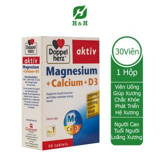 Viên uống Doppelherz Aktiv MAGNESIUM CALCIUM D3 giúp XƯƠNG CHẮC KHỎE, phát triển HỆ XƯƠNG KHỚP tối ưu - 30 viên thumbnail