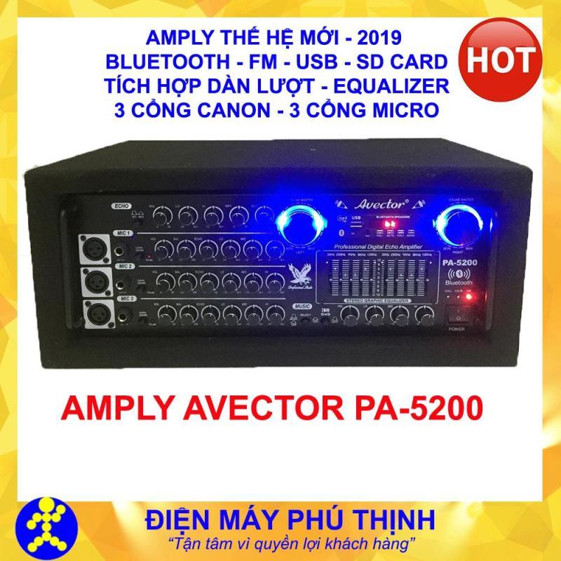 PHÚ THỊNH - Amply karaoke bluetooth - amply sân khấu - ampli karaoke gia đình hát hay AVECTOR PA-5200 BLUETOOTH