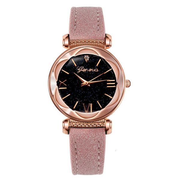 Geneva star ladys belt Watch Diamond Rose gold quartz watch womens watch M4KJ Malaysia