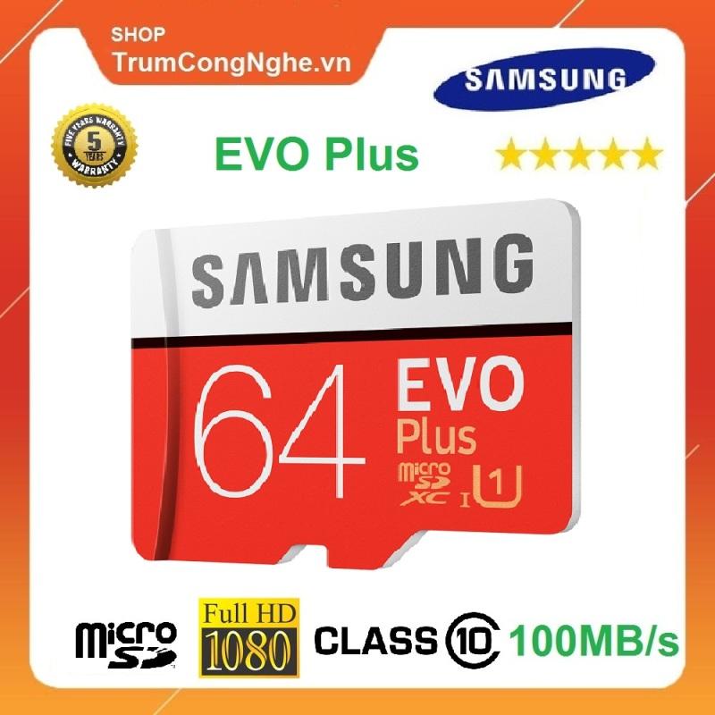 Thẻ Nhớ 64GB Samsung Plus Class10 100Mb/S Tốc Độ Cao