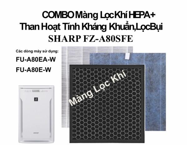 FZ-A80SFE Combo Màng lọc Hepa + Than hoạt tính Sharp lọc không khí ,hút ẩm FU-A80EA-W,FU-A80E-W