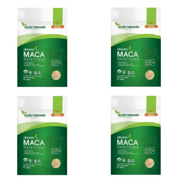 Bộ 4 gói bột Maca Nguồn Thiên Nhiên Organic Gelatinized 200g x 4 nhập khẩu