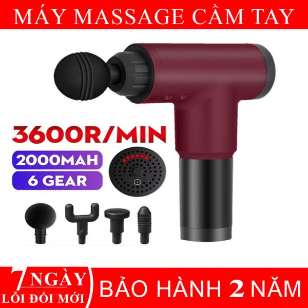 Máy massage cẩm tay đa năng- 4 đầu massage, 6 chức năng bảo vệ thông minh món quà sức khỏe tặng người thân và bạn bè.