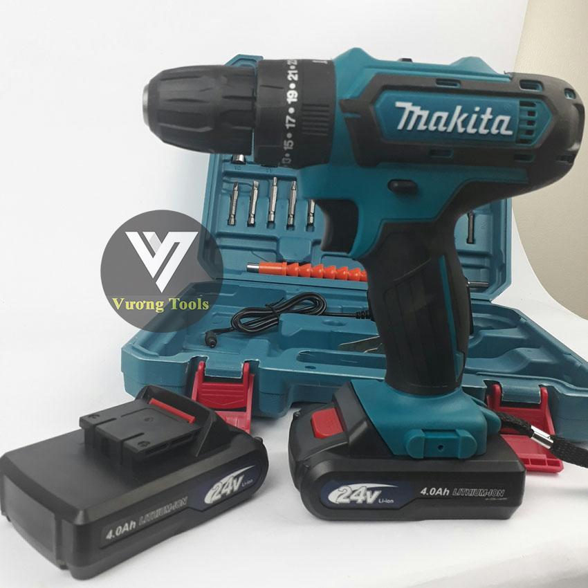 Makita 24V, Máy khoan pin bắt vít cầm tay 24V có Búa kèm phụ kiện 27 chi tiết