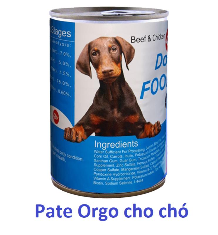 Orgo Pate chó dạng Lon 400gr  Thức ăn mềm cho mọi loại chó - Thịt hộp chó
