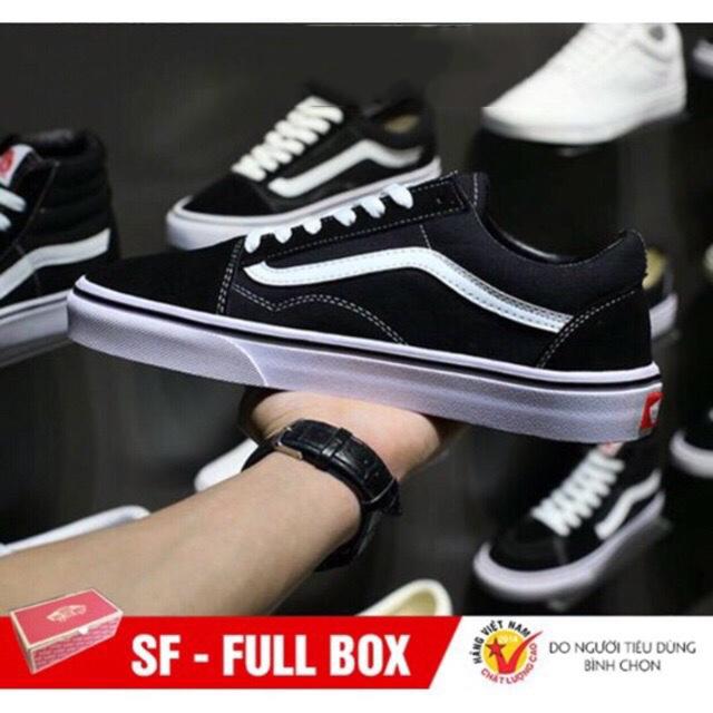 [Tặng Hộp] Giày VANS-OLD SKOOL nam nữ hàng VNXK bảo hành 12 tháng lỗi được đổi SP mới - Giày Vans-Old Skool Unisex - Giày Cùng Form Giày Converse