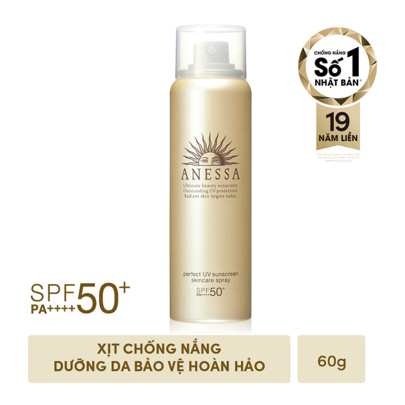Kem chống nắng dưỡng da dạng xịt bảo vệ hoàn hảo Anessa Perfect UV Sunscreen Skincare Spray 60g giá rẻ