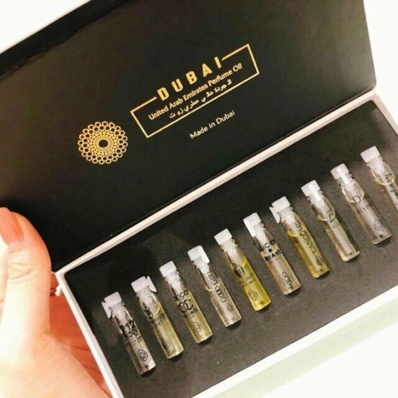 Set 10 ống tinh dầu nước hoa DUBAI mini chính hãng 2ml