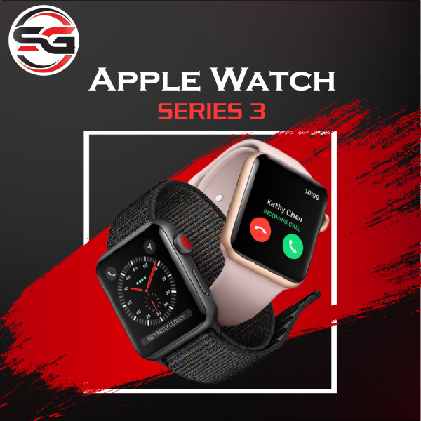 Đồng hồ Apple Watch Series 3 (  bản LTE ) Size 42mm viền nhôm Like New 99% Như Mới, Chăm sóc sức khỏe, Hỗ trợ Esim ( Bảo hành 6 tháng) SG PHONE