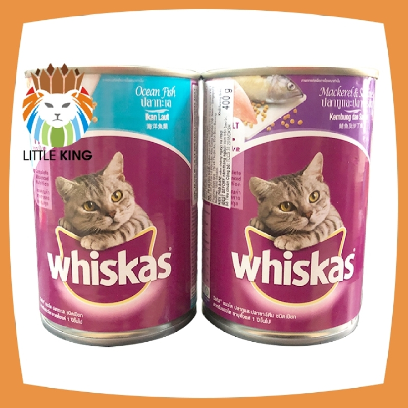 Thức ăn Pate cho mèo trưởng thành Whiskas lon 400gr - Little King pet shop