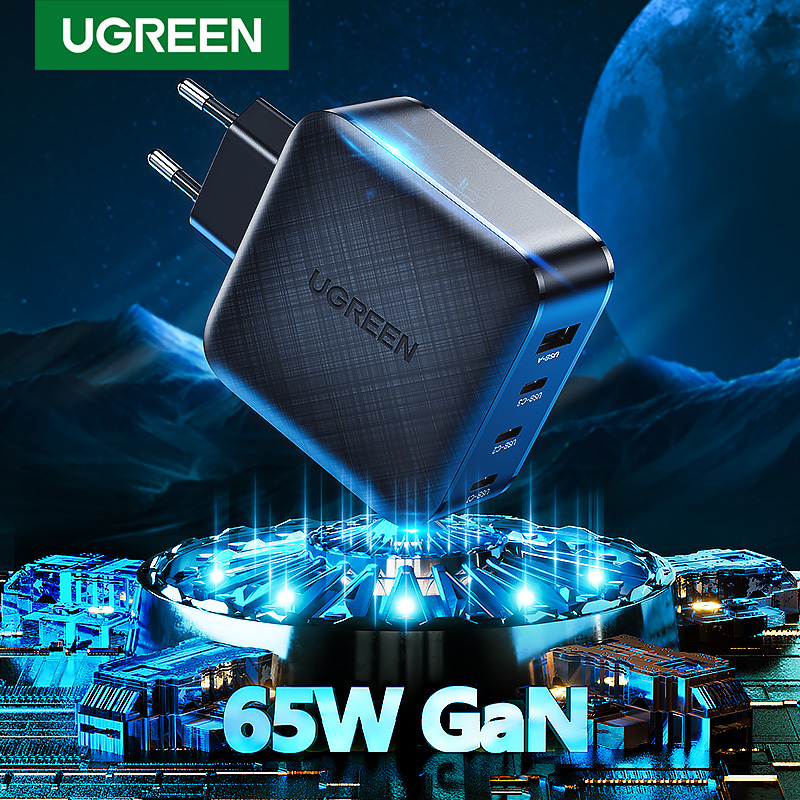 UGREEN 65W GaN Fast Charger Power Delivery High Power PD 3.0 USB Quick Charge For iPhone Samsung Macbook