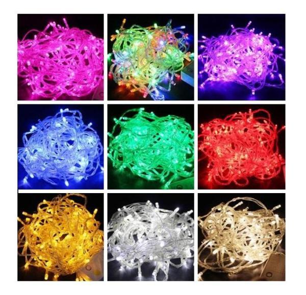 Đèn led không chớp nhiều màu sắc - 5m siêu tiết kiệm trang trí giáng sinh, cây thông, tết, quán cà phê...