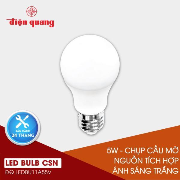 Đèn LED bulb BU11  Điện Quang ĐQ LEDBU11A55V 05765 (5W, daylight, chụp cầu mờ, nguồn tích hợp)