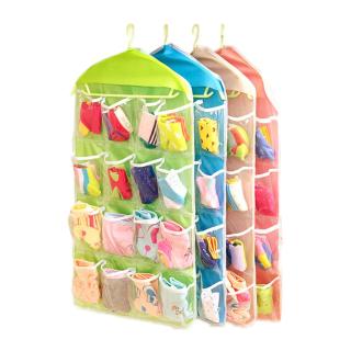 [HÌNH THẬT] Túi treo đồ lót vớ tất vật dụng linh tinh loại 16 ngăn và loại 2 mặt (30 ô , 30 ngăn) nhiều ngăn , túi treo vải lưới nhiều ngăn 2 mặt , túi lưới treo đựng đồ nhiều ngăn , túi treo vớ hoặc áo ngực thumbnail