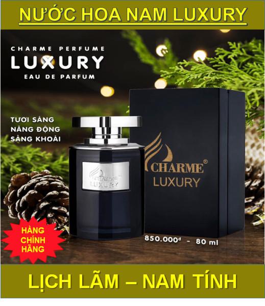 Nước hoa Nam Luxury 80ml nước hoa chame Hương thơm nam tính thu hút mọi ánh nhìn ( hàng chính hãng giá siêu rẻ ) nhập khẩu