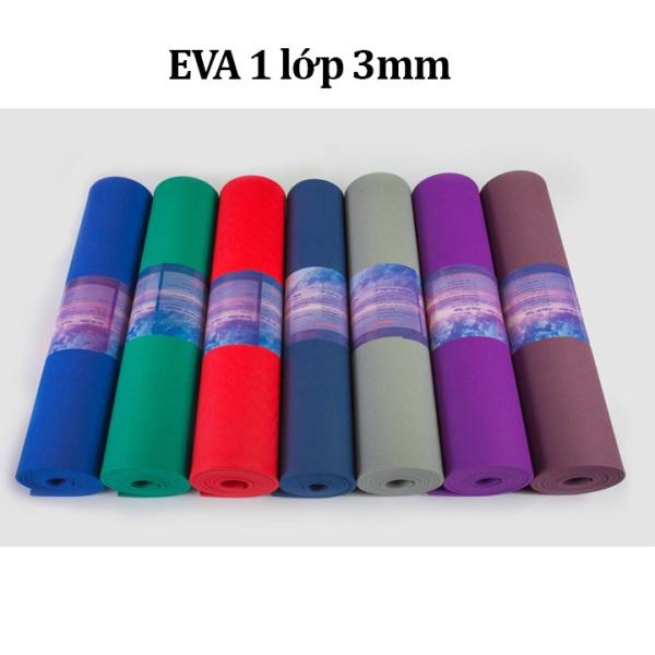 Thảm yoga chống trượt VN - EVA 1 lớp 3mm V21 (Màu ngẫu nhiên)