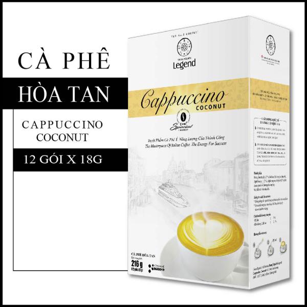Cà phê Cappuccino Coconut - Hộp 12 Sticks 18gr - Trung nguyên Legend - Cafe dừa
