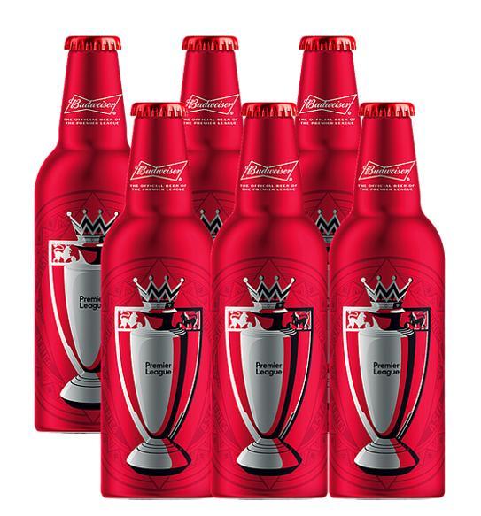 Combo 6 chai Budweiser nhôm (Ngoại hạng Anh) Nhật Bản