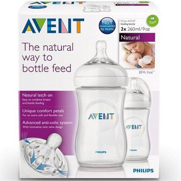 Bình sữa Avent Natural 125ml -260ml -330ml ( Được tùy chọn núm)