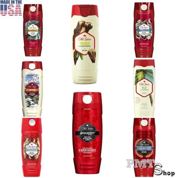 [USA] Sữa tắm dạng gel Old Spice 473ml - Swagger, Wolfthorn, FiJi, Champion, Denali, Timber, BeargLove, Hawkridge nam tính quyến rũ - Mỹ