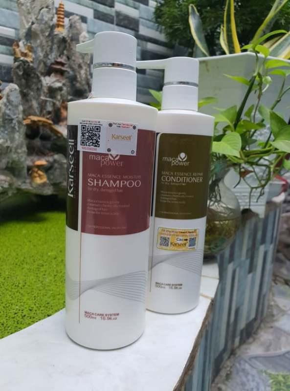 [Chính hãng] [Siêu rẻ] Bộ dầu Gội xả Karseell collagen cho tóc khô hư tổn 500ml
